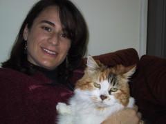 Dr. Maria Kuty Housecall Veterinarian. Santa Cruz, California and Kupenda cat